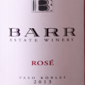 巴尔酒庄马尔贝克桃红葡萄酒(Barr Estate Winery Malbec Rose,Paso Robles,USA)