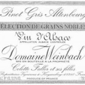温巴赫奥登堡灰皮诺粒选贵腐甜白葡萄酒(Domaine Weinbach Altenbourg Pinot Gris Selection de Grains ...)