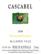 卡斯卡贝尔酒庄瑚珊-维欧尼干白葡萄酒(Cascabel Rousanne - Viognier, McLaren Vale, Australia)
