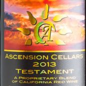 上升酒庄圣约波多尔混酿红葡萄酒(Ascension Cellars Testament Bordeaux Blend, Paso Robles, USA)