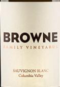 布朗家族长相思干白葡萄酒(Browne Family Vineyards Sauvignon Blanc,Columbia Valley,USA)