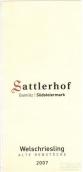 赛特勒郝夫威尔士雷司令干白葡萄酒(Weingut Sattlerhof Alte Rebstocke Welschriesling STK,...)