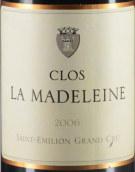 玛德莱娜酒庄红葡萄酒(Clos la Madeleine,Saint-Emilion Grand Cru Classe,France)
