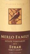 梅勒家族西拉干红葡萄酒(Merlo Family Estate Vineyards Syrah, Trinity County, USA)