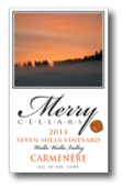 快活酒庄佳美娜干红葡萄酒(Merry Cellars Carmenere, Washington, USA)