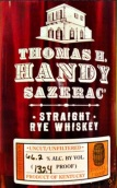 托马斯H汉迪萨泽瑞克纯黑麦威士忌(Thomas H.Handy Sazerac Straight Rye Whiskey,Kentucky,USA)