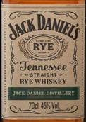杰克丹尼田纳西黑麦威士忌(Jack Daniel's Tennessee Straight Rye Whiskey, Tennessee, USA)