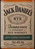 杰克丹尼田纳西黑麦威士忌(Jack Daniel's Tennessee Straight Rye Whiskey,Tennessee,USA)
