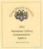 Georg Albrecht Schneider Niersteiner Olberg Gewurztraminer ...