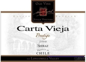 卡塔维嘉高级隆康为拉谷西拉干红葡萄酒(Carta Vieja Prestige Loncomilla Valley Shiraz,Maule Valley,...)