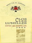 朗乐士酒庄干红葡萄酒(Clos Les Lunelles, Cotes de Castillon, France)