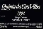 埃拉韦利亚单一园年份波特(Quinta da Eira Velha Single Quinta Vintage Port,Douro,...)