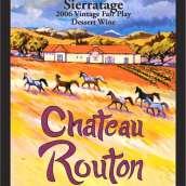 路腾酒庄塞拉山年份波特风格加强酒(Chateau Routon Sierratage Vintage Port,Sierra Foothills,USA)