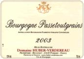 于贝-弗德罗帕赛特格雷干红葡萄酒(Domaine Huber-Verdereau Bourgogne Passetoutgrains,Burgundy,...)