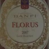 班菲弗洛瑞丝莫斯卡德罗迟摘甜白葡萄酒(Castello Banfi FloruS Moscadello di Montalcino Late Harvest,...)