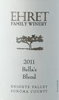 厄莱家族酒庄贝拉混酿干红葡萄酒(Ehret Family Winery Bella's Blend, Knights Valley, USA)