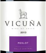 干露羊驼梅洛红葡萄酒(Vicuna Merlot,Central Valley,Chile)