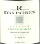 瑞安帕特里克法国溪园珍藏霞多丽干白葡萄酒(Ryan Patrick French Creek Vineyard Reserve Chardonnay, Columbia Valley, USA)