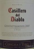 干露红魔鬼珍藏琼瑶浆干白葡萄酒(Concha y Toro Casillero del Diablo Reserva Gewurztraminer,...)