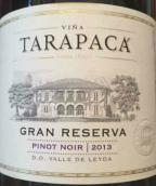 塔拉巴嘎特级珍藏黑皮诺干红葡萄酒(Vina Tarapaca Gran Reserva Pinot Noir,Leyda Valley,Chile)