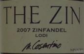 卡斯提诺Zin仙粉黛干红葡萄酒(Cosentino Winery 'The Zin' Zinfandel, Lodi, USA)