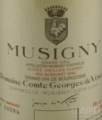 武戈伯爵(慕西尼特级园)老藤红葡萄酒(Domaine Comte Georges de Vogue Musigny Grand Cru Vieilles ...)