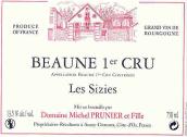 普诺尼父女酒庄玛西兹园(伯恩一级园)红葡萄酒(Domaine Michel Prunier et Fille Les Sizies, Beaune Premier Cru, France)