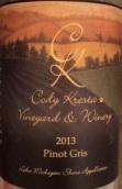 克雷斯塔灰皮诺干白葡萄酒(Cody Kresta Pinot Gris, Lake Michigan Shore, USA)