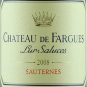 法歌酒庄贵腐甜白葡萄酒(Chateau de Fargues,Sauternes,France)