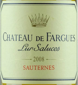 法歌酒庄贵腐甜白葡萄酒(Chateau de Fargues, Sauternes, France)