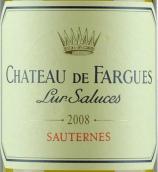 法歌酒庄贵腐甜白葡萄酒(Chateau de Fargues,Sauternes,France)