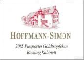 Hoffmann-Simon Piesporter Goldtropfchen Riesling Kabinett,...