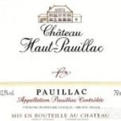 上波雅克酒庄红葡萄酒(Chateau Haut-Pauillac,Pauillac,France)