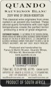 奎安多酒庄长相思干白葡萄酒(Quando Wine Estate Sauvignon Blanc,Robertson,South Africa)