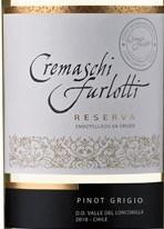 格雷曼珍藏灰皮诺干白葡萄酒(Cremaschi Furlotti Reserve Pinot Grigio,Maule Valley,Chile)