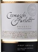 格雷曼珍藏灰皮诺干白葡萄酒(Cremaschi Furlotti Reserve Pinot Grigio, Maule Valley, Chile)