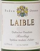 安德鲁斯·莱贝尔酒庄雷司令玛瑙系列晚收干白葡萄酒(Weingut Andreas Laible Achat Durbacher Plauelrain Riesling Spatlese Trocken, Baden, Germany)