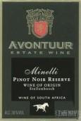 阿翁拓米内利黑皮诺干红葡萄酒(Avontuur Estate Minelli Pinot Noir Reserve, Stellenbosch, South Africa)