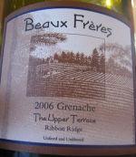 连襟上层露台歌海娜干红葡萄酒(Beaux Freres The Upper Terrace Grenache, Ribbon Ridge, USA)