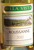 贝拉·维斯塔瑚珊干白葡萄酒(Bella Vista Winery Roussanne,California,USA)