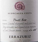 伊拉苏阿空加瓜海岸黑皮诺干红葡萄酒(Errazuriz Aconcagua Costa Pinot Noir,Aconcagua Valley,Chile)