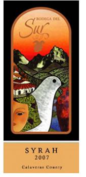 博德加酒庄西拉红葡萄酒(Bodega Del Sur Syrah, Sierra Foothills, USA)