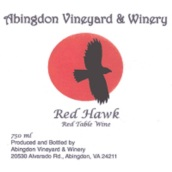 阿宾顿红鹰系列香宝馨半甜红葡萄酒(Abingdon Red Hawk Chambourcin,Virginia,USA)
