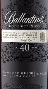 百龄坛40年苏格兰调和威士忌(Ballantine's Aged 40 Years Blended Scotch Whisky,Scotland,UK)