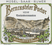 塔尼史班卡斯特勒雷司令逐粒枯萄精选甜白葡萄酒(Weingut Wwe. Dr. H. Thanisch Erben Thanisch Bernkasteler Doctor Riesling Trockenbeerenauslese, Mosel, Germany)