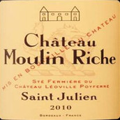 乐夫宝菲庄园莫琳里奇干红葡萄酒(Chateau Leoville-Poyferre Chateau Moulin Riche, Saint-Julien, France)