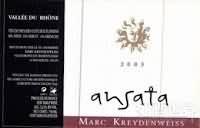 Marc Kreydenweiss Ansata,Vin de Pays des Coteaux Flaviens,...