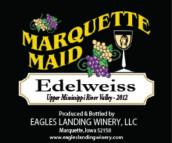 鹰陆马奎特少女雪绒花半甜型白葡萄酒(Eagles Landing Winery Marquette Maid Edelweiss,Iwoa,USA)