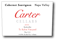 卡特贝克斯道夫最佳OG赤霞珠干红葡萄酒(Carter Cellars Beckstoffer To Kalon Vineyard The O.G....)